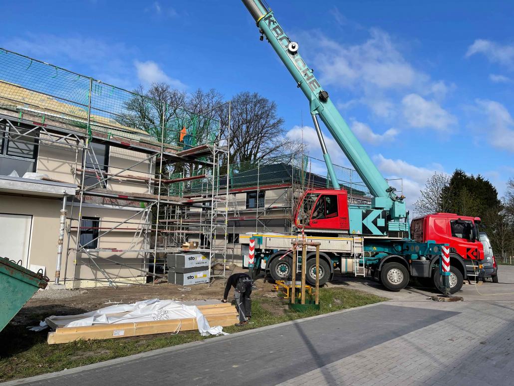 Baustelle Mehrfamilienhaus Deutschland